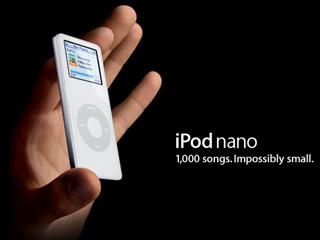 超薄いカラー液晶搭載「iPod nano」Appleから新登場!