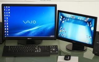 VAIO typeR masterにサブディスプレイを用意してBumpTopで遊んでみる。
