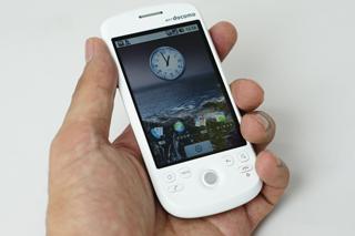 Androidケータイ「HT-O3A」をちょっぴり触らせてもらって何となく思った事。