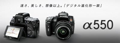"""高解像度で見やすいライブビューと異常に賢くなったデジタル一眼レフカメラ""""α550"""""""
