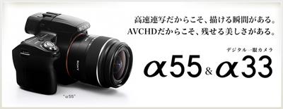 """常にAFが追従しながら高速連写や動画撮影ができるデジタル一眼レフカメラ""""α55"""""""