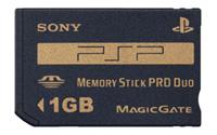 PSP用の1GBメモステPROデュオとバッテリー