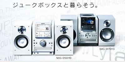 音楽をたくさん貯め込んで、好みの音楽を持ち出そう「NAS-M90HD」